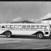 Alhambra High School bus, Southern California, 1940