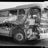 Greyhound bus #751 to show damage, Los Angeles, CA, 1941