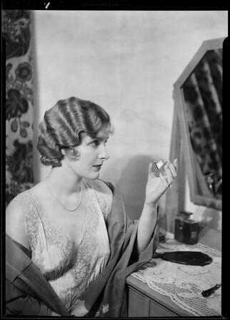 Catherine Dale Owen & watch, Southern California, 1930