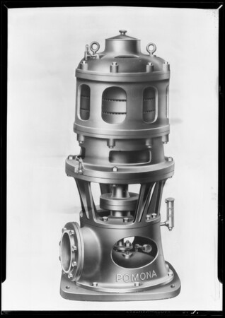 Pump (cross section), Pomona Pump Co., Southern California, 1930