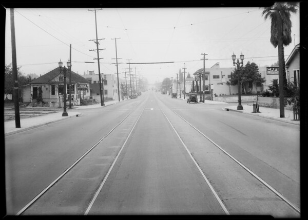 Intersection of North Virgil Avenue and Lockwood Avenue, Los Angeles, CA, 1926