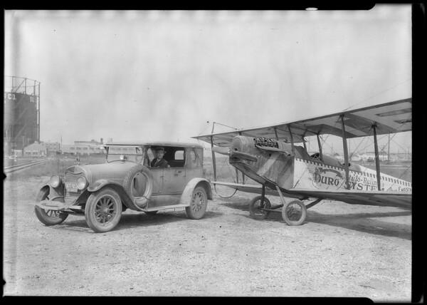Car & plane, Southern California, 1924