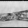 Car & plane, Southern California, 1924