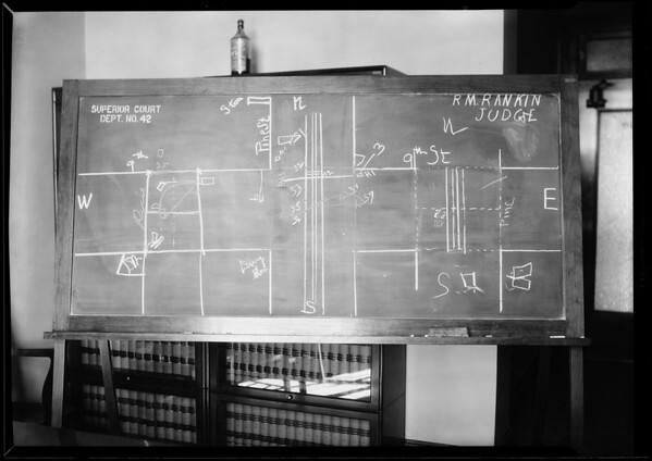 Blackboard, Superior Court Department #2, Southern California, 1930