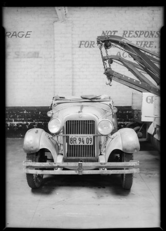 Cadillac-assured car, Metropolitan Casualty Co., Southern California, 1934