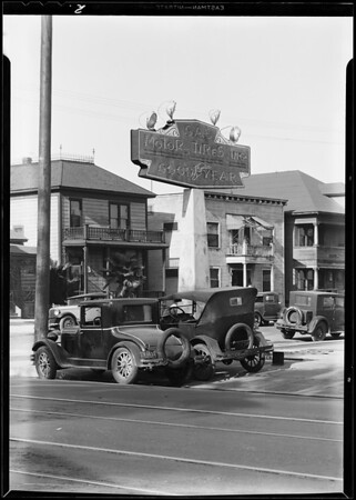 Goodyear service station on East 9th Street, Southern California, 1931