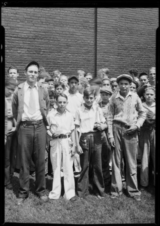 Boys baseball practice, Wrigley Field, Los Angeles, CA, 1931