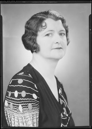 Portrait, Mazie Schick, Southern California, 1934