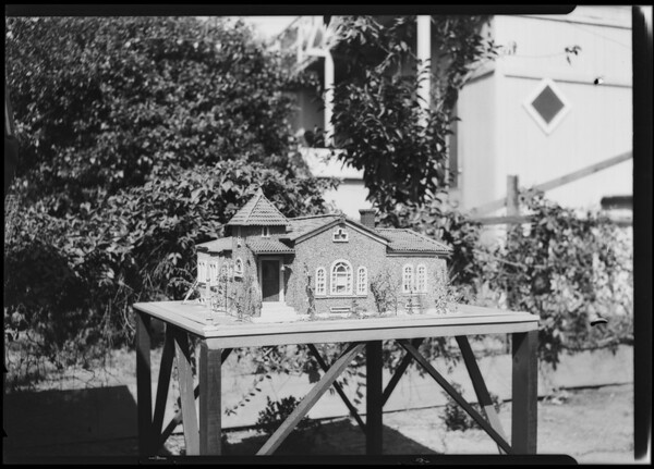 Model of house, Southern California, 1924
