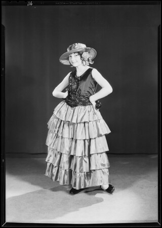 Lavine May in Spanish costume, Southern California, 1930