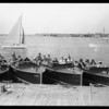 Boats, etc. at Lido Isle, Newport Beach, CA, 1928