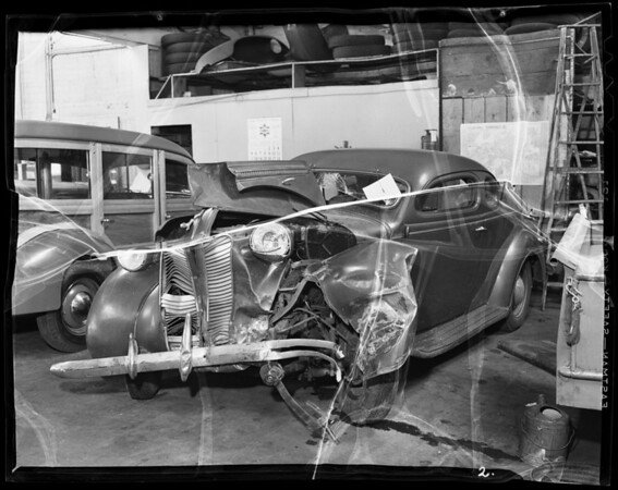 E. Kent's car, 1127 South Olive Street, Los Angeles, CA, 1940