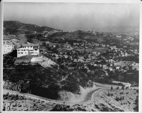 View of homes in the Hollywood Hills, 1948