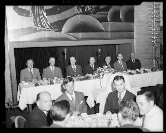 Banquet at Mayfair Hotel, 1256 West 7th Street, Los Angeles, CA, 1940