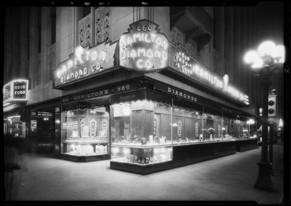 New store, Hamilton Diamond Co., 110 West 9th Street, Los Angeles, CA, 1930