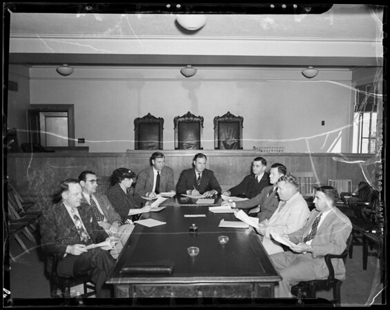 Board meeting at State Building, Los Angeles, CA, 1940