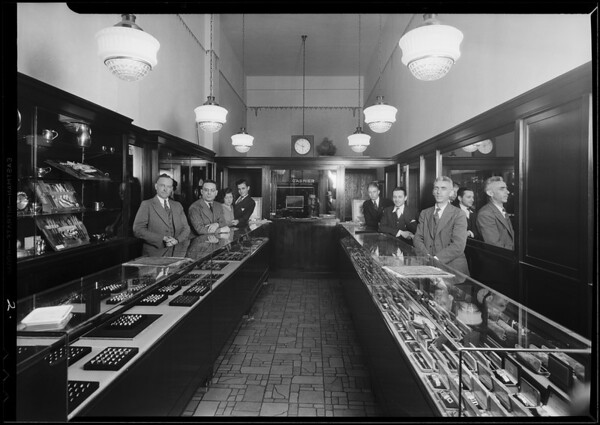New interior and exterior, National Credit Jewelers, Southern California, 1930