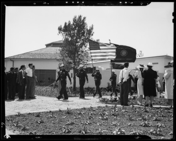 """Opening Ceremonies """"Flowerland"""", Paul J. Howard's Flowerland Nursery, Los Angeles, CA, 1940"""