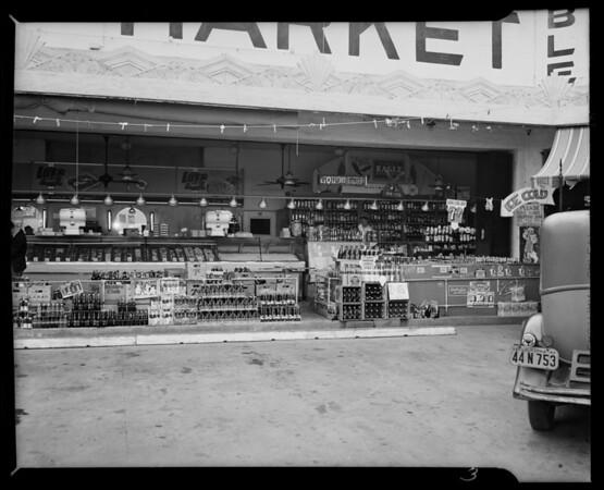 Turnstile at M. Pynoos Market, Inglewood, CA, 1940
