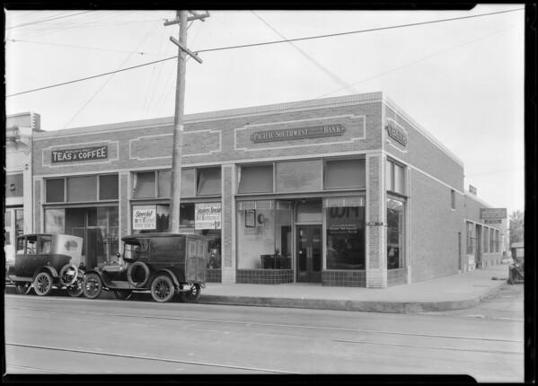 West Pico Boulevard & South Mariposa Avenue branch, Pacific Southwest Bank, Los Angeles, CA, 1924