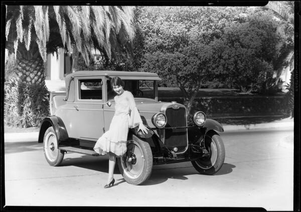 Chevrolet Cabriolet & Georgia Brazelle, Southern California, 1928