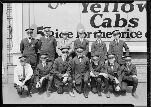 Group of drivers, Yellow Cab Co., Southern California, 1926