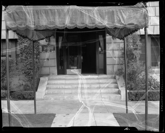 Front steps at 454 South Catalina Street, Los Angeles, CA, 1940