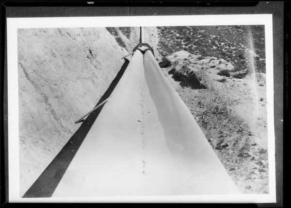 Bouquet Canyon pipe line, Western Pipe & Steel Co., Southern California, 1935