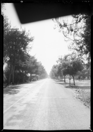 Scene of accident - East Foothill Boulevard & North Loraine Avenue, Glendora, CA, 1934