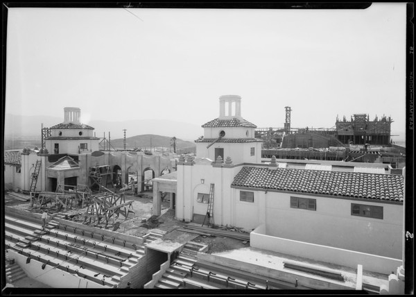 Norconian Club area construction, Southern California, 1928