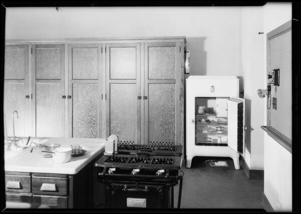 Refrigerator in South Gate High School, 3351 Firestone Boulevard, South Gate, CA, 1930