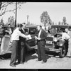 "Terraplane ""Sierra Flyer"" and old Hudson, Beverly Hills, CA, 1934"