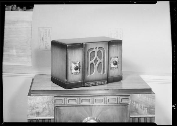 Radios and ironer, Southern California, 1934