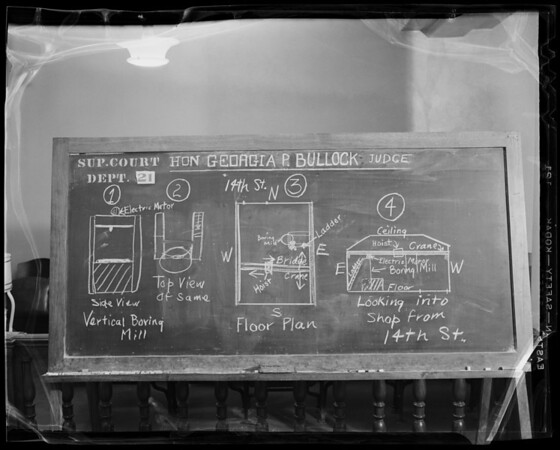 Blackboard - Gibson Case, Los Angeles, CA, 1940