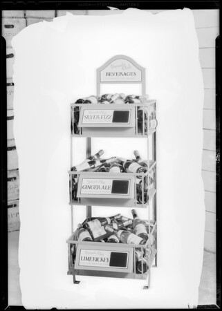 Bottle racks, El Dorado Club Beverage Co., Southern California, 1930