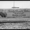 Sign boards at Avenue 37 and Pasadena Avenue, Los Angeles, CA, 1930