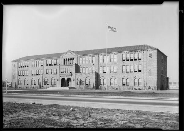 Refrigerator in South Gate High School, 3351 Firestone Boulevard, South Gate, CA, 1930
