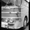 Damage to bus # 747, Decatur Street, Los Angeles, CA, 1940