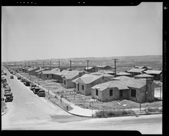 Building activity and homes in Crenshaw Manor, Los Angeles, CA, 1940