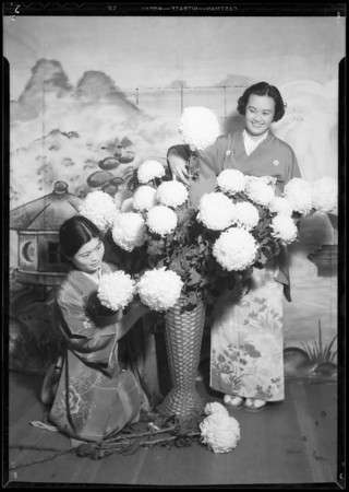Japanese flower girls, Southern California Flower Association, Southern California, 1934