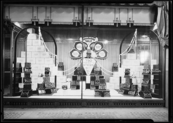 Department store - radio window, Los Angeles, CA, 1925