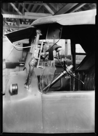Auto at Los Angeles automotive shops, Los Angeles, CA, 1928