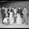 Salesmen with new labels, Vernon, CA, 1934