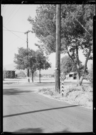 Scene of accident - East Foothill Boulevard & North Loraine Avenue, Glendora, CA, 1934