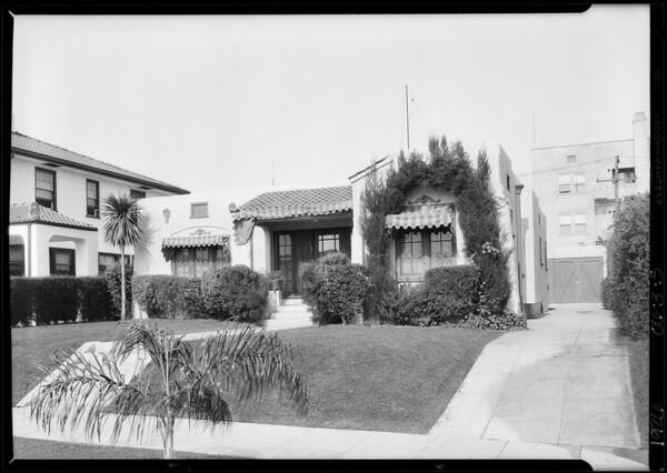1938 North New Hampshire Avenue, Los Angeles, CA, 1926