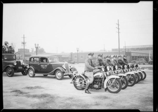 Navy Day parade, Southern California, 1934