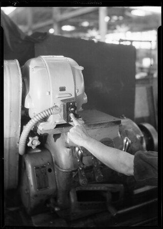 Control switch on uniclosed motor, Southern California, 1931