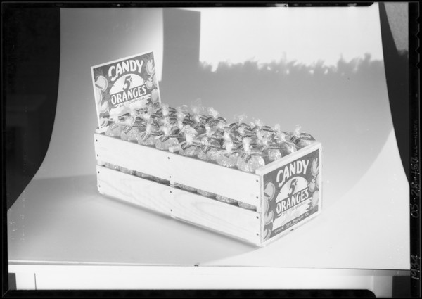 Candy oranges, Southern California, 1934