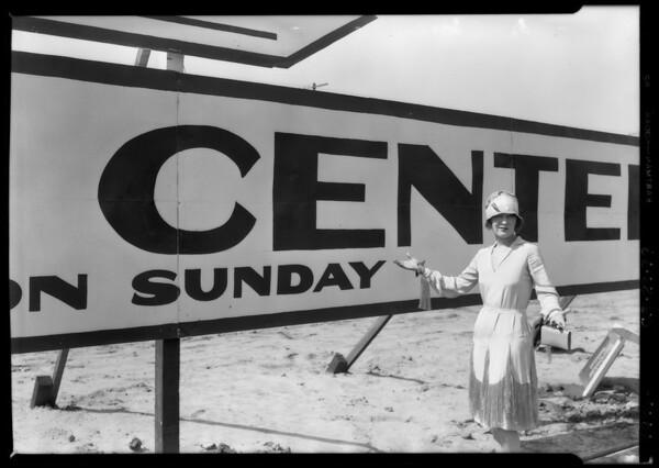 Pico Boulevard center, Southern California, 1926