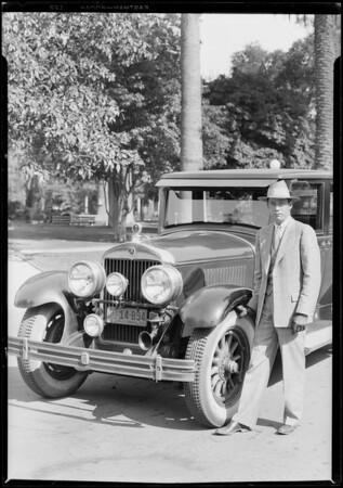 Susan M. Dorsey's car, Southern California, 1928